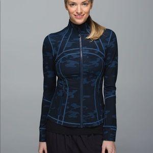 RARE Lululemon Define Jacket Blue Camo